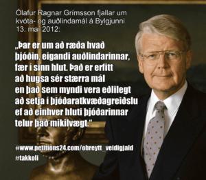 forsetinn og auðlindin