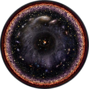 Túlkun listamanns á hinum sýnilega alheimi. http://en.wikipedia.org/wiki/Observable_universe